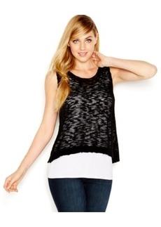 kensie Layered Split-Back Sweater