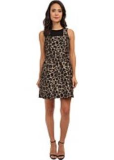 kensie Leopard Jacquard Dress KS0K7104