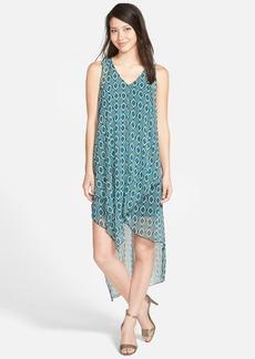 kensie 'Lined Ellipse' Print Sleeveless Asymmetrical Shift Dress