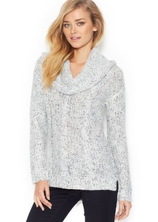 kensie Long-Sleeve Cowl-Neck Cable-Knit Sweater (Only at Macy's)