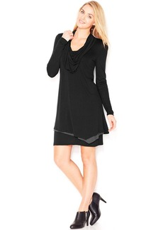 kensie Long-Sleeve Cowl-Neck Dress (Only at Macy's)