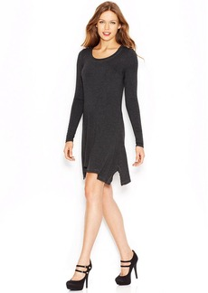 kensie Long-Sleeve Scoop-Neck T-Shirt Dress