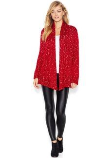 kensie Long-Sleeve Shawl-Collar Knit Cardigan
