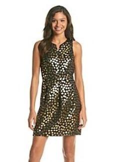 Kensie® Lurex Dots Pleated Dress