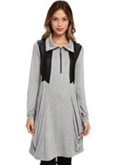kensie MB Drapey French Terry Dress