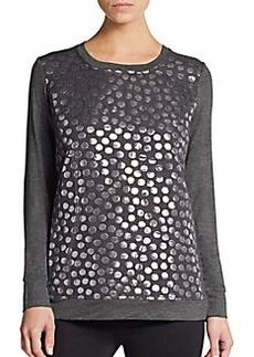 Kensie Metallic Dot Sweatshirt