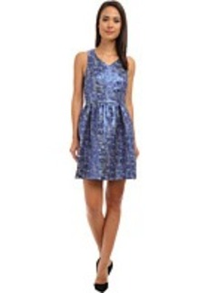 kensie Nubbly Lurex Jacquard Dress