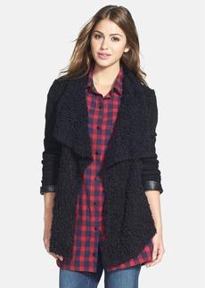 kensie Nubby Texture Open Front Knit Jacket