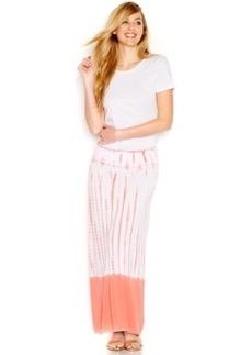kensie Ombre Tie-Dye Maxi Skirt