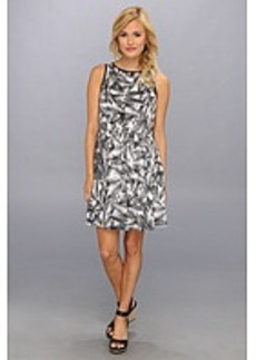 kensie Overlapped Ferns Dress