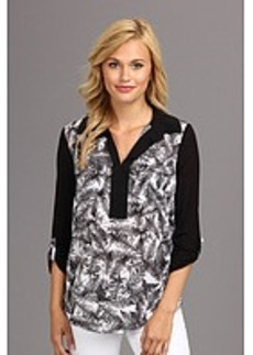 kensie Overlapped Ferns Top