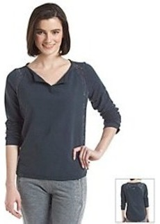 Kensie® Performance Hi-Lo Lace Insert Pullover