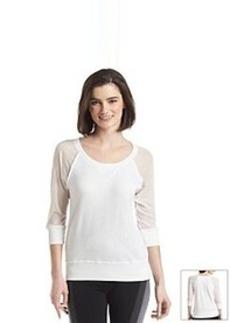 Kensie® Performance Sheer Sleeves Sweatshirt