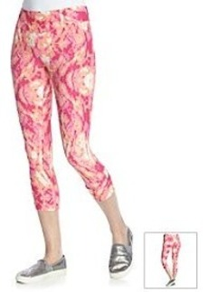 Kensie® Performance Tie Dye Cropped Leggings