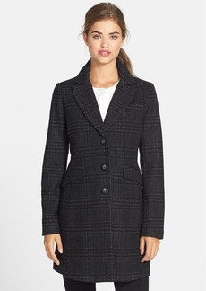 kensie Plaid Walking Coat