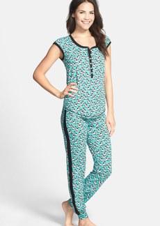 kensie 'Playing Favorites' Print Jersey Pajamas