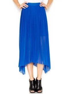 kensie Pleated Asymmetrical-Hem Midi Skirt