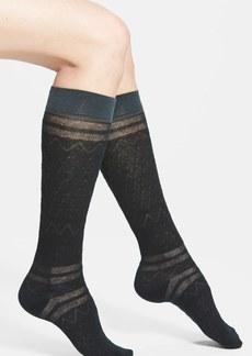 kensie Pointelle Knee Socks