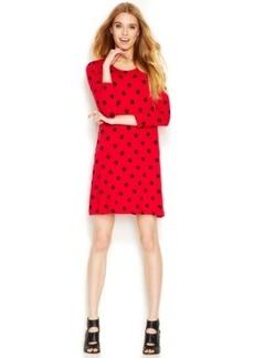 Kensie Polka-Dot Printed Dress