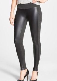 kensie Ponte & Faux Leather Leggings