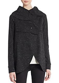 Kensie Ponte Speckled Oversize Jacket