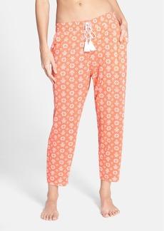 kensie Print Crop Jersey Pajama Pants