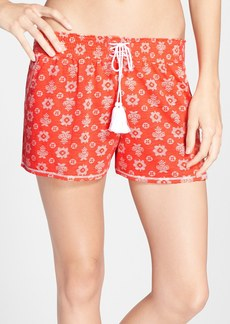kensie Print Lace-Up Jersey Boxers
