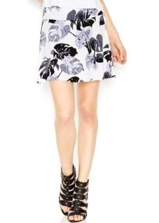 kensie Printed A-Line Skirt