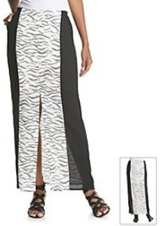 Kensie Printed Cheetah Woven Maxi Skirt