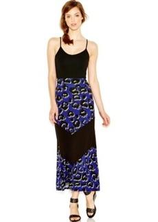 kensie Printed Maxi Skirt