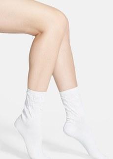kensie Puckered Crew Socks