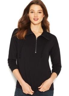 Kensie Quarter-Zip Lace Sweatshirt