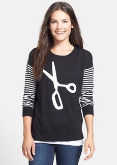 kensie Scissors & Stripes Sweater
