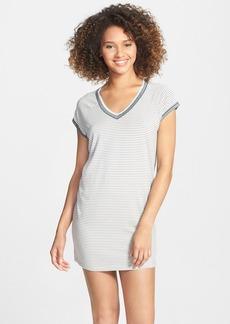 kensie 'Seasonal Keepers' Sparkle Stripe Sleep Shirt