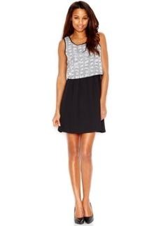 kensie Sequin Popover Dress