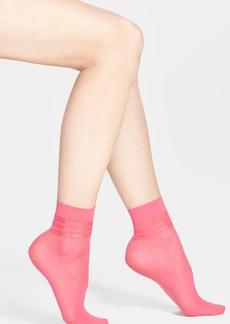 kensie Sheer & Opaque Stripe Ankle Socks