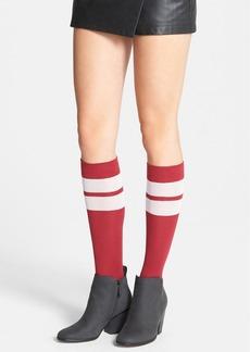 kensie Sheer Stripe Knee High Socks