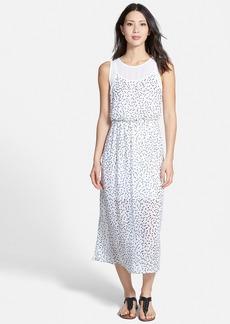 kensie 'Sketched Spots' Layer Bodice Midi Dress