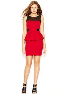 kensie Sleeveless High-Neck Peplum-Hem Dress (Only at Macy's)