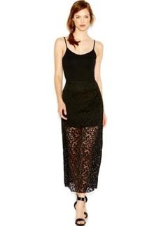 kensie Sleeveless Lace Maxi Skirt