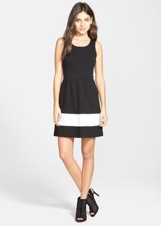 kensie Sleeveless Ponte Fit & Flare Dress