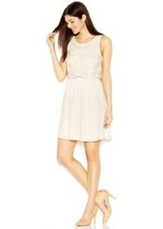 kensie Sleeveless Scoop-Neck Layered-Look Dress