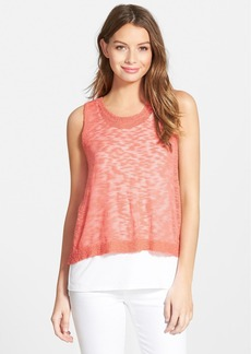 kensie Sleeveless Sweater with Tank Liner