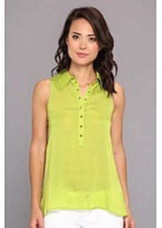 kensie Soft Twill Woven Top