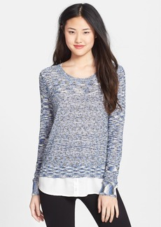 kensie Space Dye Slub Knit Sweater (Online Only)
