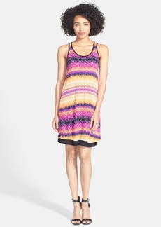 kensie Square Print Scoop Neck  Dress
