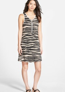 kensie 'Stacked Lines' A-Line Dress