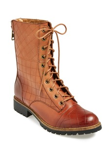 kensie 'Steva' Quilted Leather Boot (Women)