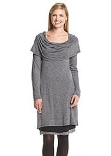 Kensie® Streaky Slub Cowl Neck French Terry Dress