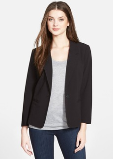 kensie Stretch Crepe One-Button Blazer